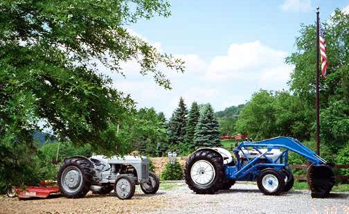 1940 9N and a 1963 Ford 2000 Industrial with front loader