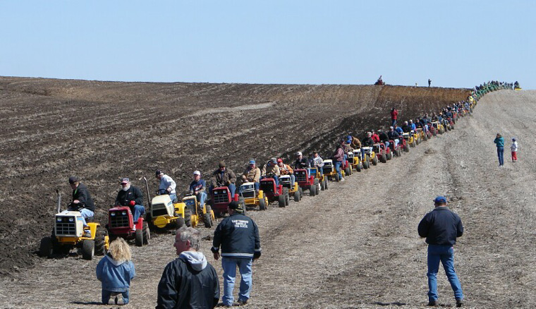 Garden Tractors as far as the eye can see!